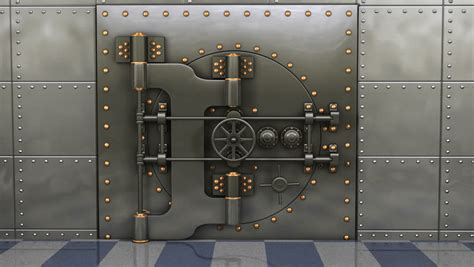 What Do Banks Look For In A Background Check 1080p Hd Resolution A Heavy Steel Bank Vault Slowly Opening Showing Green