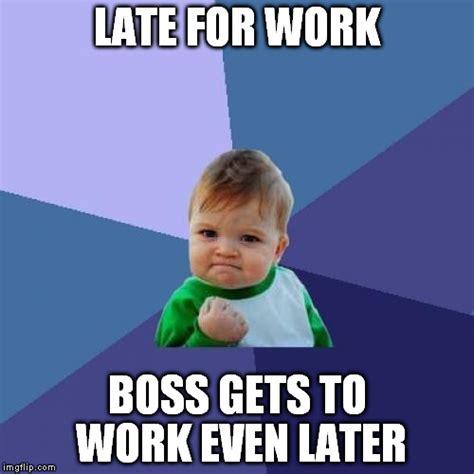 Late For Work Meme - success kid meme imgflip