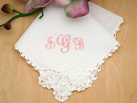 Wedding Font Initials by Monogrammed Wedding Hankie W 3 Initials Font J