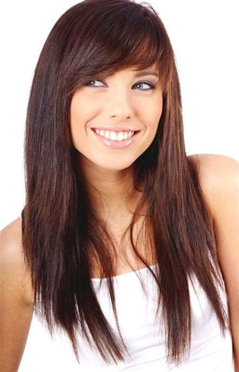 long hair sweeped side fringe shaved best bangs for long hairstyles 2016 haircuts hairstyles