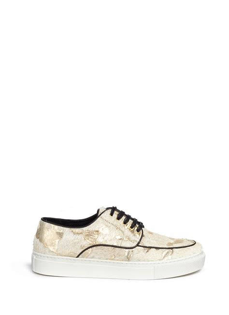 pony hair sneakers eugene riconneaus inez metallic camouflage pony hair