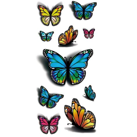 henna tattoo stickers amazon tafly temporary 3d multicolor
