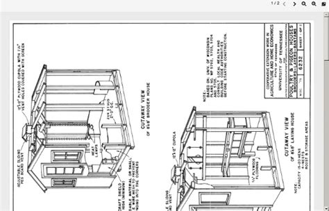 chicken house plans pdf chicken coop plans pdf 8x 8 foot wooden chicken coop pearltrees