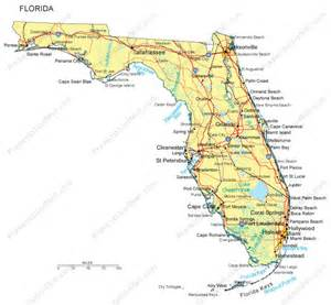 florida map counties major cities and major highways