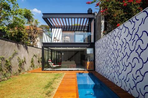 imagenes de jardines normales dise 241 o de casa larga y angosta con planos y fachada