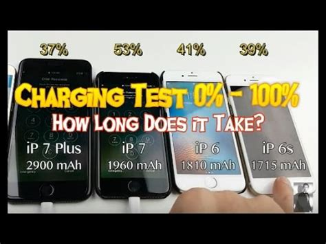 iphone 7 plus vs iphone 7 vs iphone 6s vs iphone 6 charging test 0 100