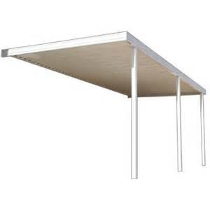 patio awnings home depot metals building products 20 ft x 10 ft white aluminum