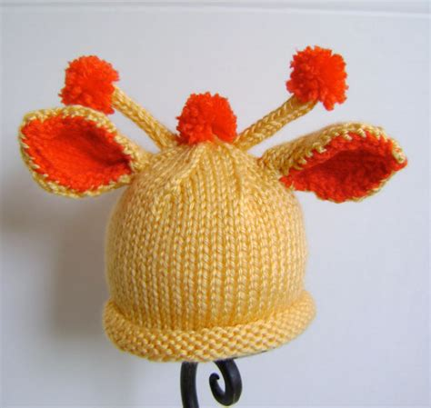 knitting pattern giraffe baby giraffe hat by sheila zachariae craftsy