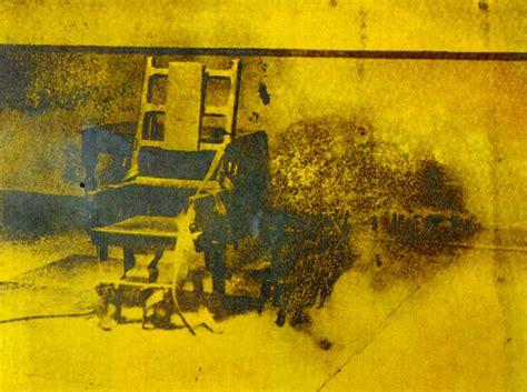esecuzione sedia elettrica andy warhol electric chair baikcinema movimento in