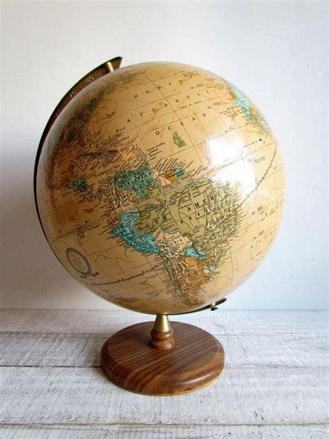 world globe home decor vintage brown world globe cram s imperial world globe