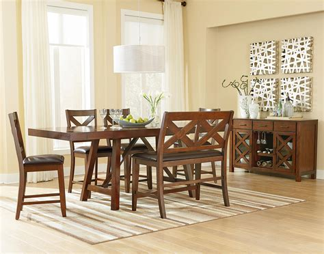 informal dining room standard furniture omaha brown casual dining room group