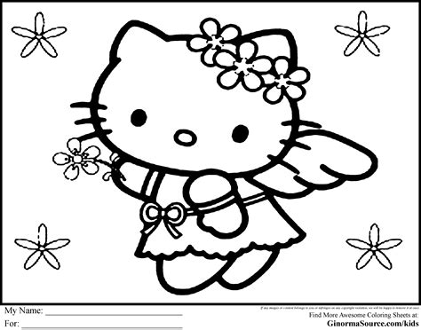 hello kitty angel coloring pages hello kitty christmas coloring pages angel colouring