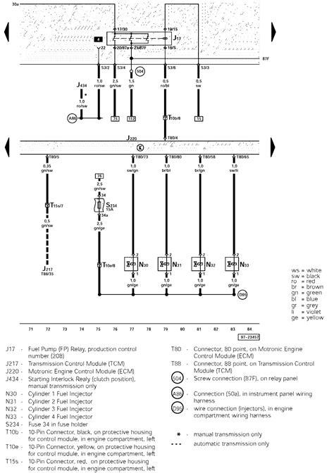 1999 volkswagen passat relay diagram efcaviation