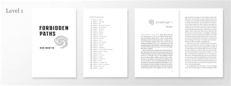 novel page layout text design portfolio