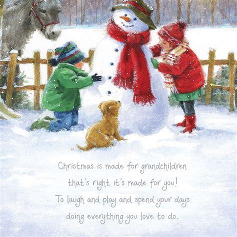 christmas words  warmth grandchildren card garlanna greeting cards