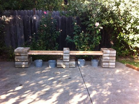 how to make a bench with cinder blocks great bench idea using cinder blocks cinder block