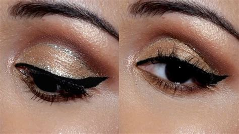 eyeshadow tutorial indian skin soft cut crease glitter eye makeup tutorial for indian