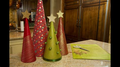 christmas tree tissue paper cone tree craft wrapping paper trees let s craft with modernmom 12 days of day 3