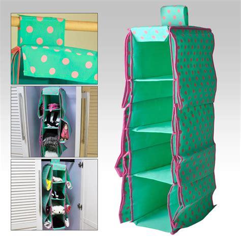 green 10 pockets wardrobe hanging bag clothes sort holder