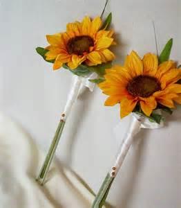 sunflower bouquet simple sunflower bouquet wedding flowers