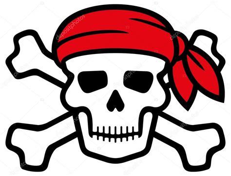 imagenes de calaveras piratas pirate skull with red bandanna and bones stock vector