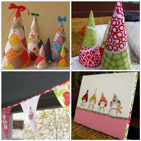 cute christmas craft with a needle sewn up