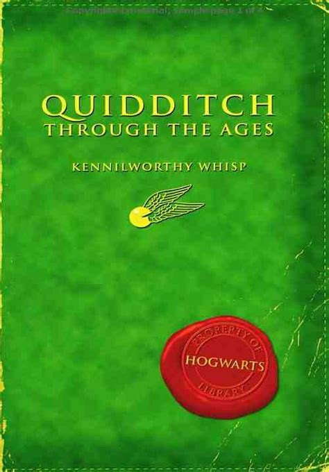 through the books journey with words review quidditch through the ages