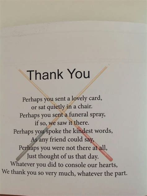 thank you letters after a funeral post funeral quot thank you quot note ideas