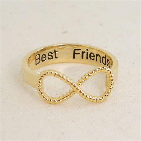 infinity ring best friends best friends infinity ring 6 5 size in gold bff ring on