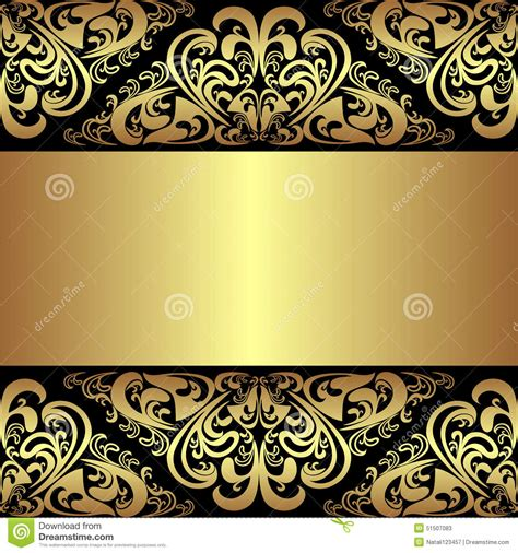 luxury background  golden royal borders cartoon
