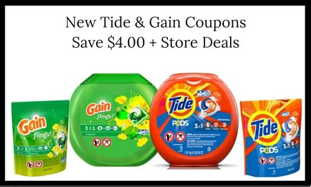 tide printable coupons 2 00 off new tide gain coupons worth 4 00 deals as low as 1