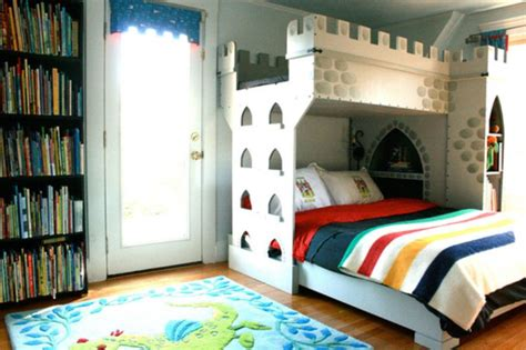Boys Castle Bunk Bed Modern Boys Bedroom With A Castle Bunk Bed Kidsomania