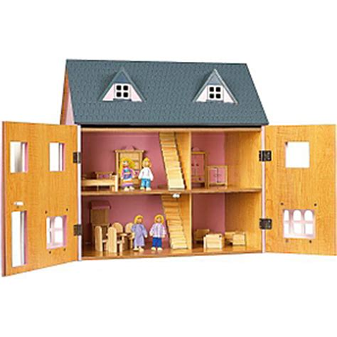 asda doll house traditional wooden dolls house now 163 30 asda hotukdeals