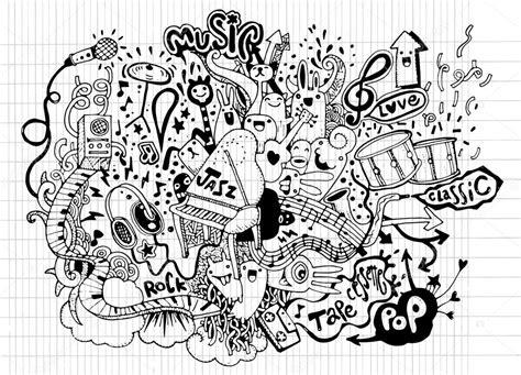 doodle draw theme fondo de m 250 sica mano dibujo doodle ilustraci 243 n vectorial