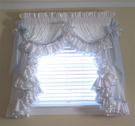 Ruffled Country Curtains Curtains Blinds