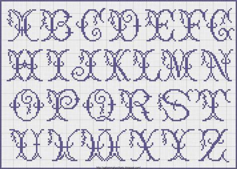 caratteri diversi nomi con il punto croce foto tempo libero pourfemme