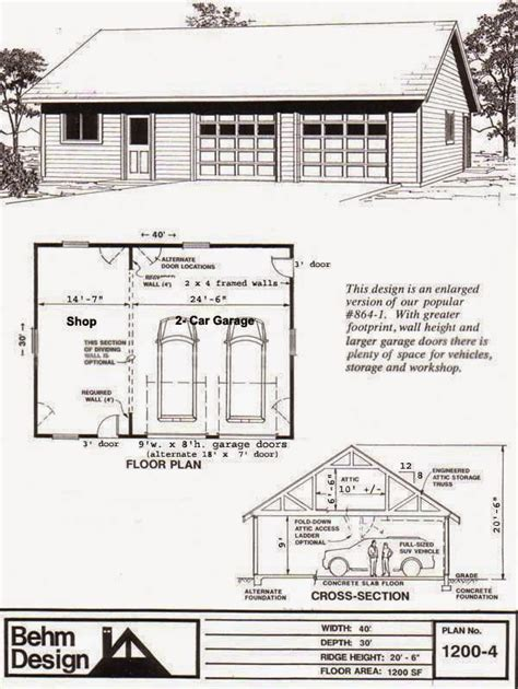 large garage plans garage plans behm design garage plan exles garage plan 1200 4 large 2 car with shop