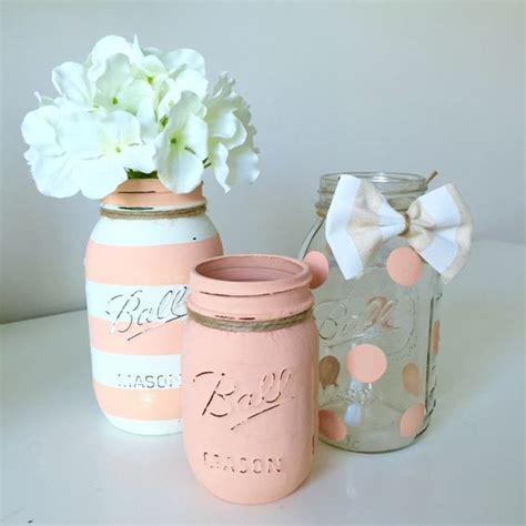 jar centerpieces for baby shower baby shower jar decor baby shower baby boy shower painted jars