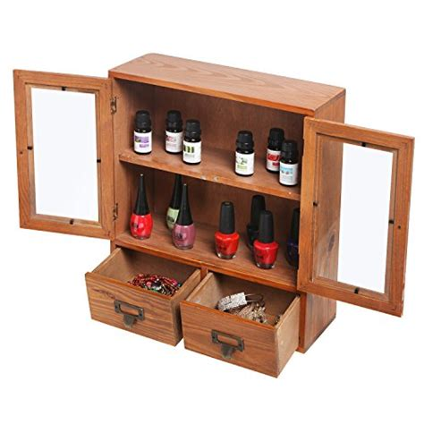 Shadow Box With Shelves And Glass Door Mini Tabletop Wood Display Cabinet Shadow Box With Glass Doors 2 Shelves 2 Ebay