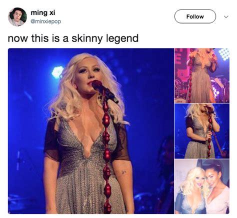 Christina Aguilera Meme - christina aguilera skinny legend know your meme