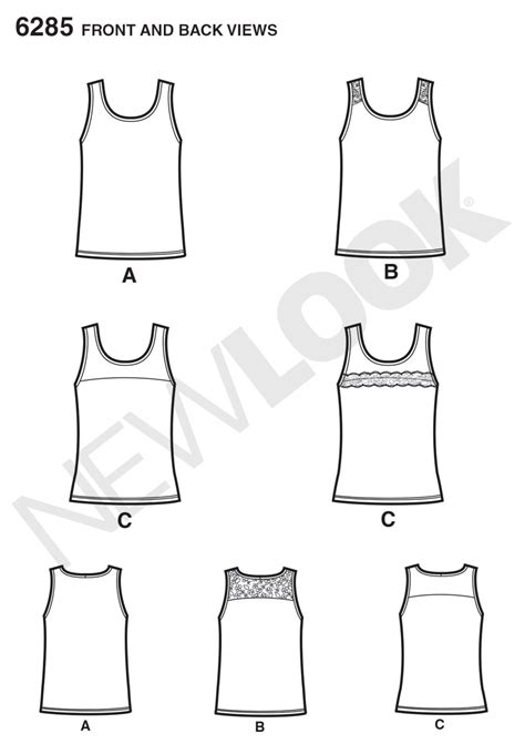 pattern review best patterns 2014 new look 6285 misses knit tank tops