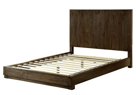 Cal King Rustic Bed Frame Amarante Bedroom Modern Bold Low Profile King Cal Bed Frame Rustic Tone