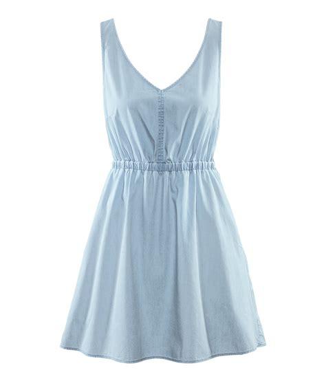 H M Dress by H M Denim Dress In Blue Lyst