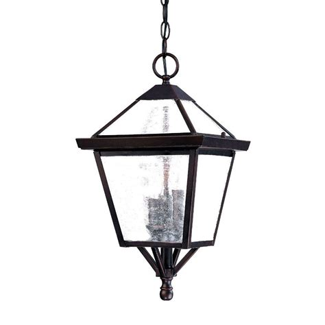 Architectural Outdoor Lighting Fixtures with Acclaim Lighting Bay Collection 1 Light Architectural Bronze Outdoor Hanging Light