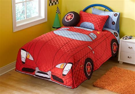 toddler car bedroom asio club blue metal toddler bed for boys with racing car bedding