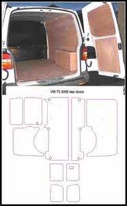 t5 swb with rear doors 9mm plywood lining kit p25