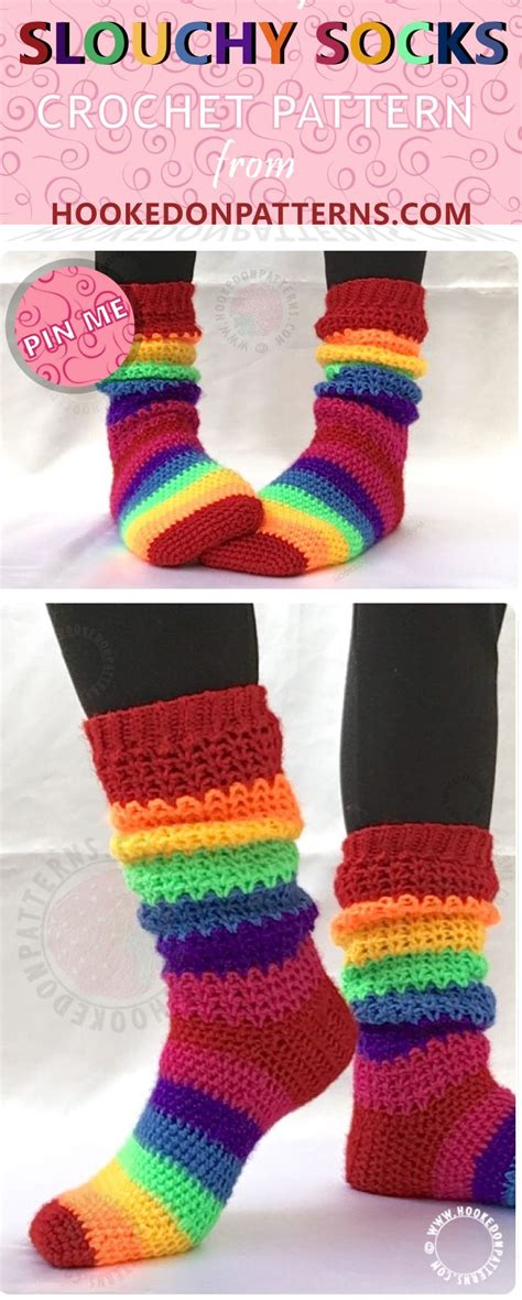 pattern for slouch socks best 25 crochet socks pattern ideas on pinterest