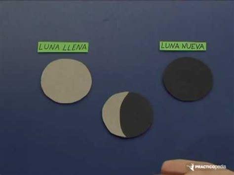 como hacer una maqueta de las 8 fases lunares interactiva c 243 mo distinguir las fases de la luna youtube