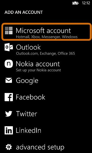 outlook sign in to your microsoft account guide how to transfer winows phone contacts to iphone