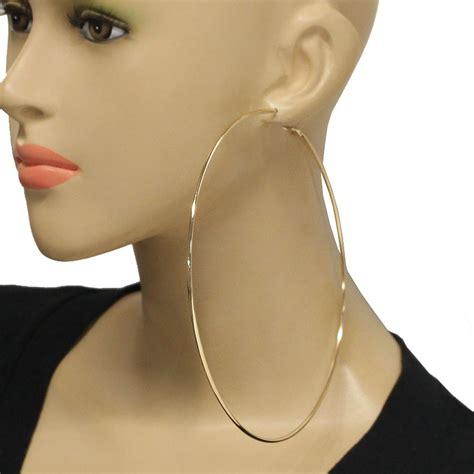 14cm large gold hoop earrings e01054 e7400